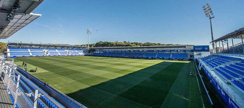 Pitch view of Estadio El Alcoraz