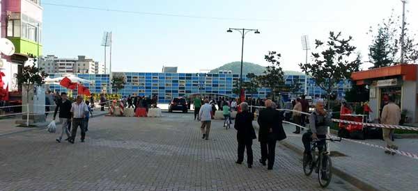 The Main stand of Elbasan Arena