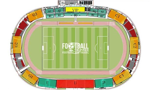 Stadium map of Elbasan Arena