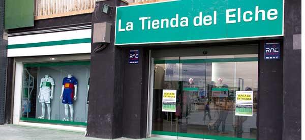 Exterior of Elche CF club shop