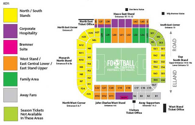 Elland Road Seating Plan