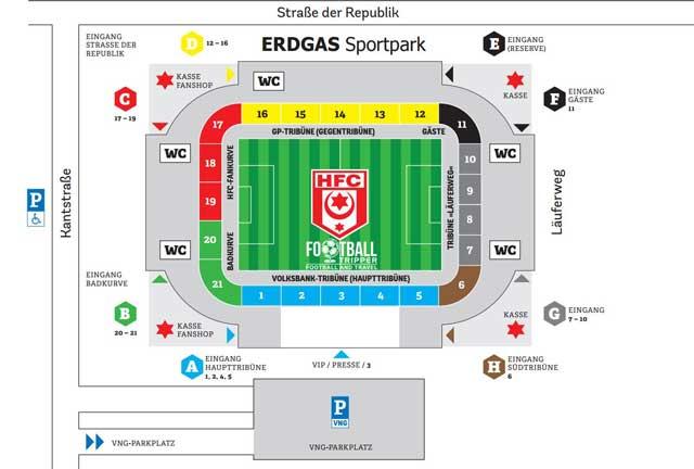 Erdgas Sportpark seating map