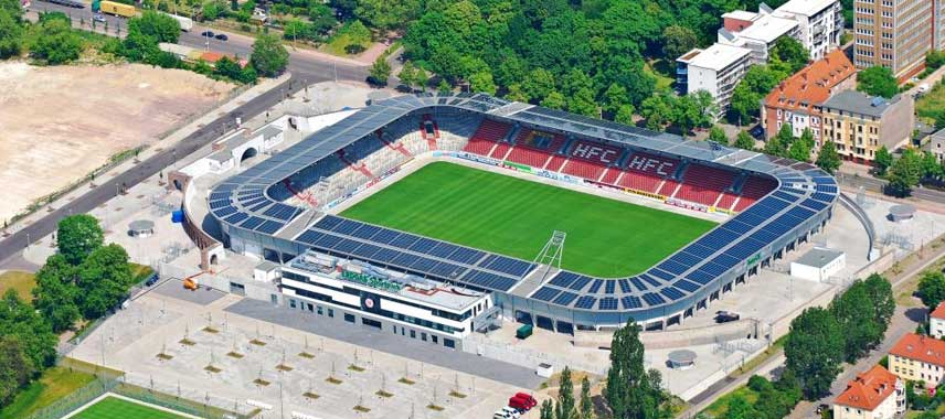 Aerial view of Erdgas Sportpark