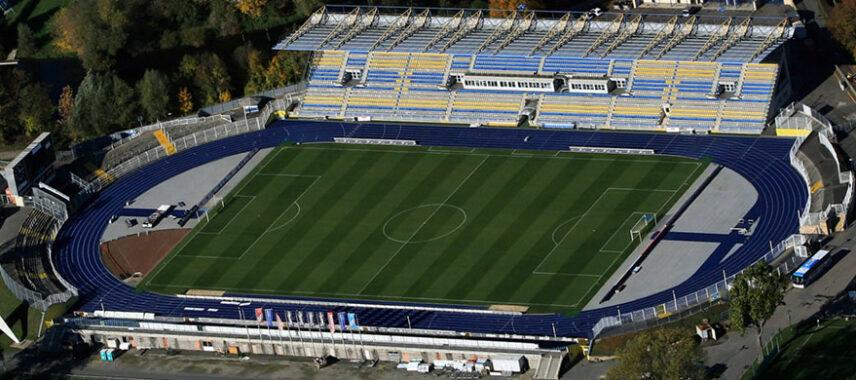 Aerial view of Ernst Abbe Sportfeld