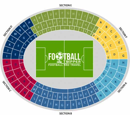 Seatng chart for Ernst Happel Stadium