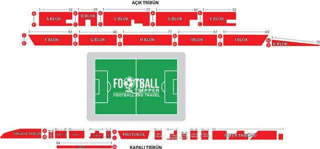Eskişehir Atatürk Stadium seating chart