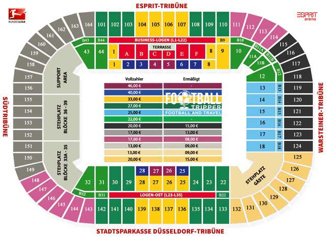 Esprit Arena Seating Plan
