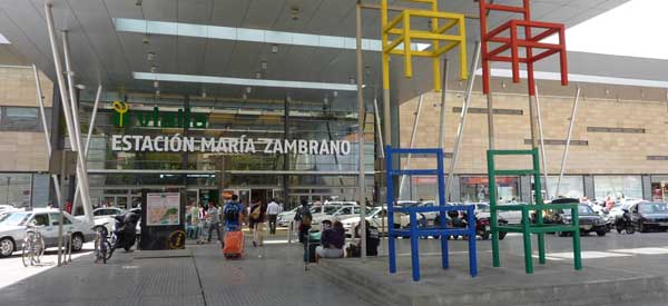 Main entrance of Maria Zambano Station