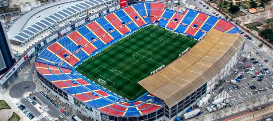 Estadio Cituat de Valencia Main Stand at night