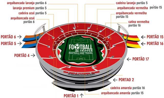 Map of Estádio do Morumbi