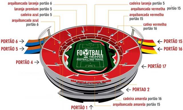 Map of Estádio do Morumbi