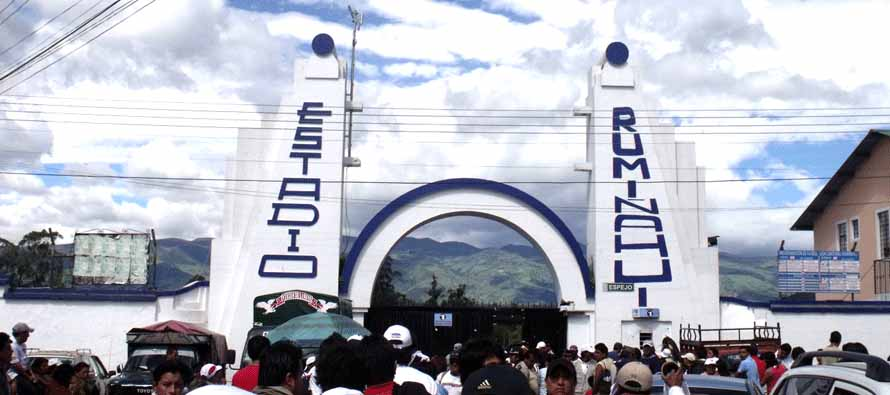 Estadio Rumiñahui main entrance