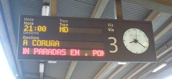 Platform sign A Coruna