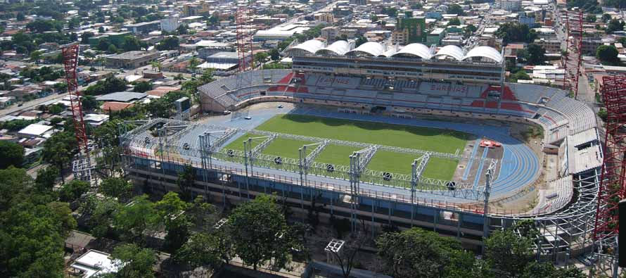Aerial view of Estadio Agustin Tovar