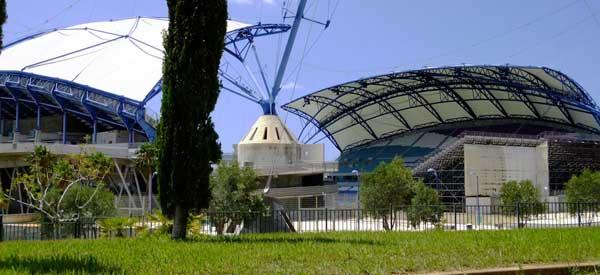 Corner view of Estadio Algarve