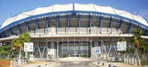 Exterior of main stand Estadio Algarve