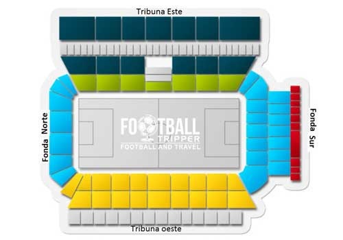 seating plan of estadio nuevo angel