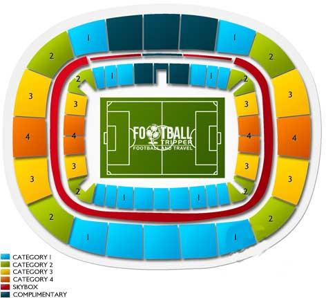 Seating chart of Estadio Arena das Dunas