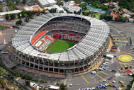 Aerial view of Estadio Azteca