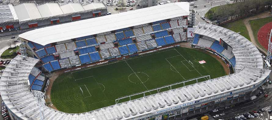 Aerial view of Estadio Balaidos