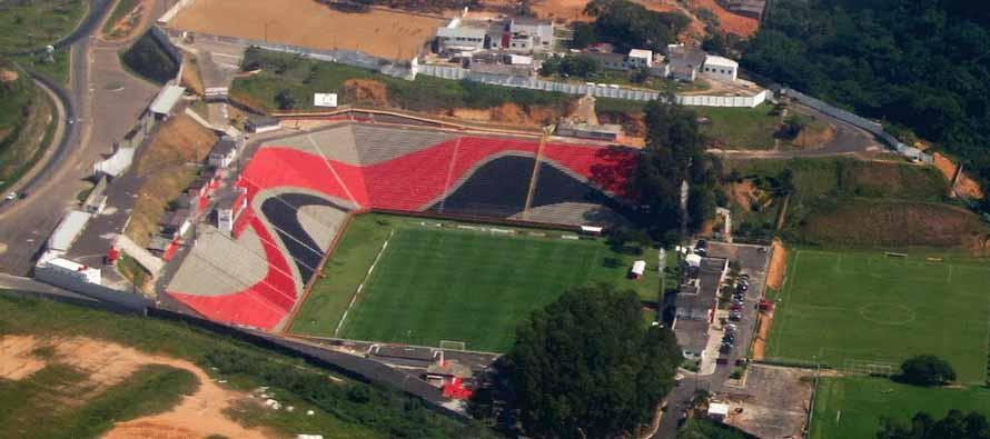 Aerial view of Estadio Barradao