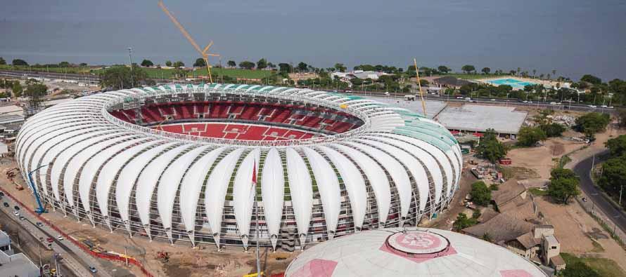 Aerial view of Estadio Beira Rio