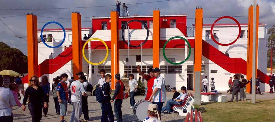 Estadio Campeones Olimpico main entrance