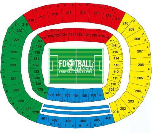 Seating Chart of Arena Castelao