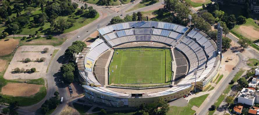 Aerial view of Estadio Centenario Uruguay