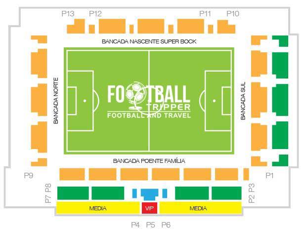 Seating chart for Estadio Cidade Barcelos