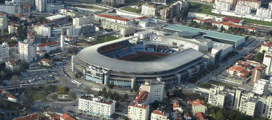 Aerial view of Estadio Cidade De Coimbra