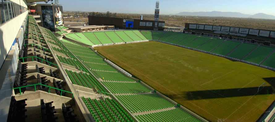 inside empty estadio corona