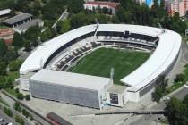 Aerial view of Estadio D Afonso Henriques