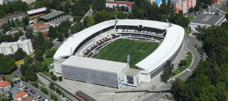 Aerial view of Estadio D Afonso Henriques