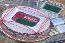 Aerial view of Estadio Da Luz in Lisbon