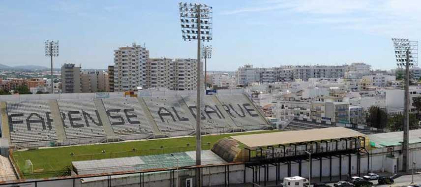 Highview of Estadio de Sao Luis from the main stand