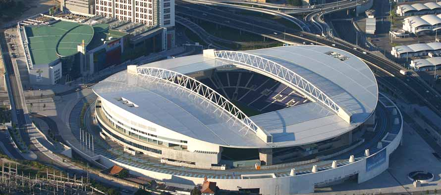 Aerial view of Estadio Do Dragao