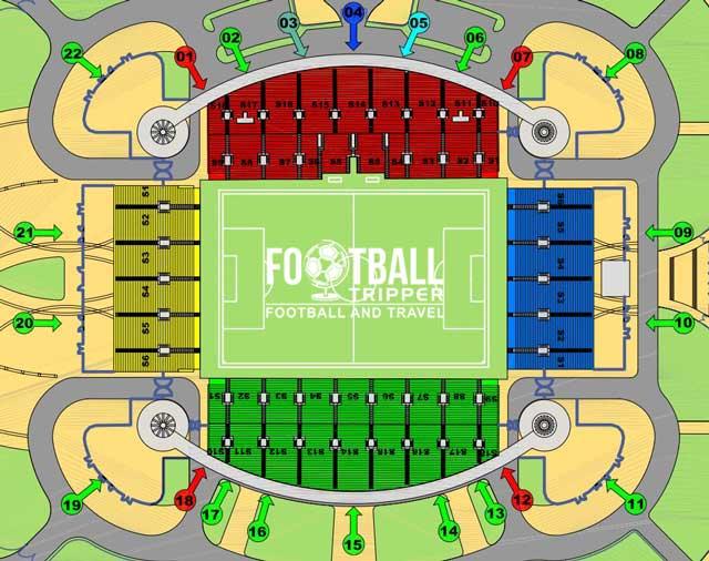 Seating chart for Estadio do Algarve