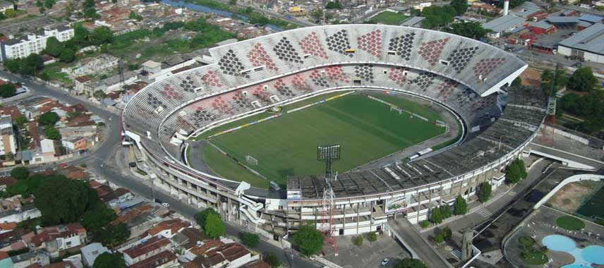 Aerial view of Estadio do Arruda