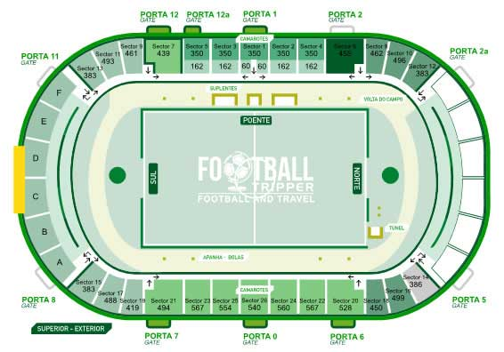 seating chart for Estadio do bonfim