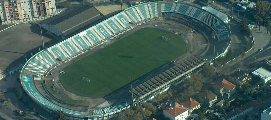 Aerial view of Estadio Do Bonfim