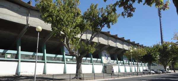 Exterior of Estadio do Bonfirm day time