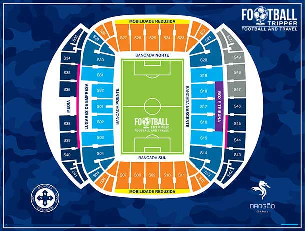 Estadio dodragao Seating Plan