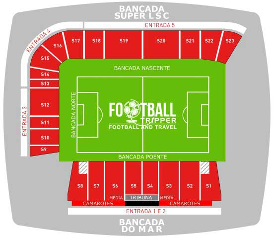 Seating plan for Estadio do Mar