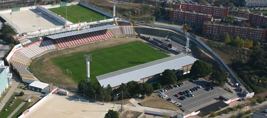 Aerial view of Estadio do mar