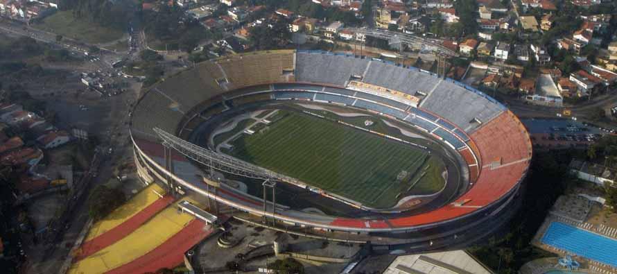 Aerial view of Estadio Do Morumbi