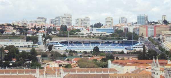 Aerial view of Estadio do Restelo