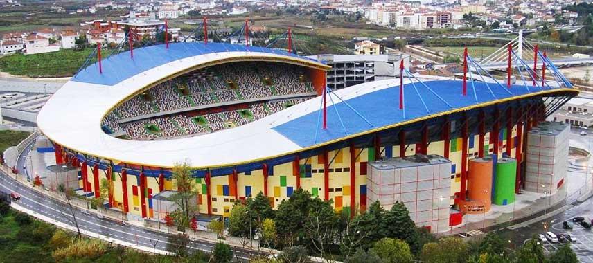 Aerial view of Estádio Dr. Magalhães Pessoa