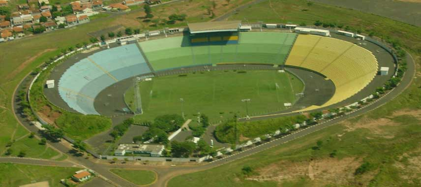 Aerial view of Estadio Eduardo Jose Farah aka Prudentao