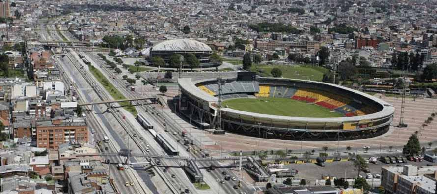 Aerial view of Estadio El Campin Nemesio Camacho